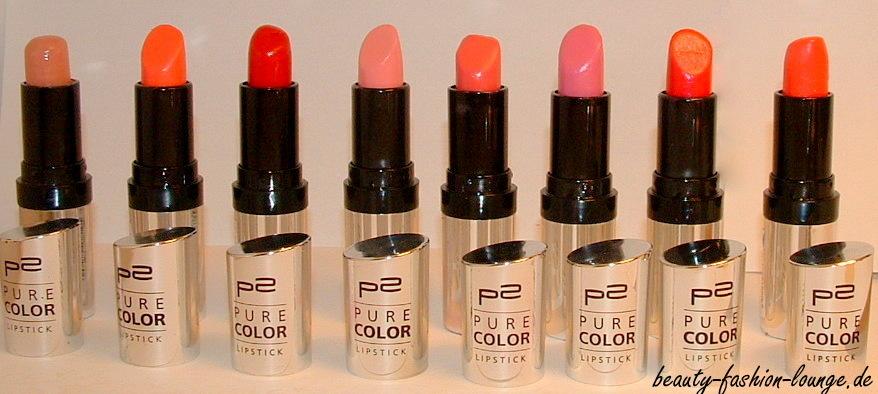 p2 Pure Color Lipstick Collection